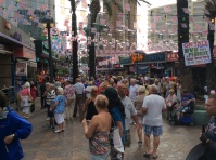 Once the official Benidorm fiestas finish in November , the unofficial British fancy dress party starts on the Thursday. One of the greatest highlights of the year, and a must for all to take part and dress up. As you can see our visitors have to gone to great efforts to showcase a spectacular day of fun, colour and a tremendous atmosphere