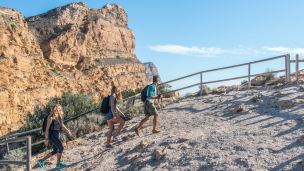 Ruta senderismo parque natural Sierra Helada, Benidorm, Punta del Cavall