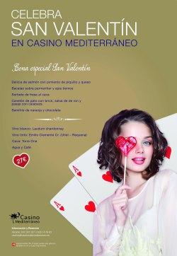 Casino Mediterráneo Benidorm prepara una cena especial por San Valentín