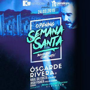 las discotecas de Ku Benidorm y Penelope Benidorm se unen para celebrar la Semana Santa en Benidorm con un artista que ha pasado por ambos lugares: Oscar de Rivera.