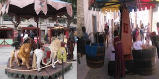Atracciones Infantiles durante el Mercado Medieval de Benidorm