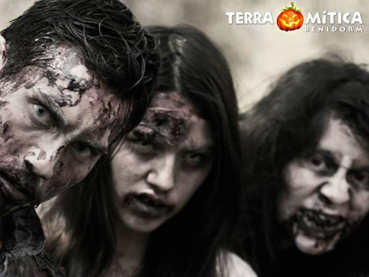 Terra Mítica celebra su primer Asalto Zombie. 5 áreas temáticas, 14 pruebas  y un solo objetivo, la supervivencia. Los participantes deberán hallar la salida a la zona de seguridad para huir de los zombies  que habitan por todo el parque y que deambulan sedientos de sangre. 7 horas de angustiosa huida con muchas sorpresas.